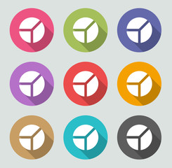 Pie chart icon - Flat designs