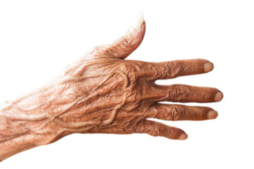 Hands of an old man