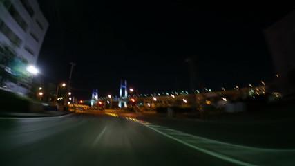 横浜ベイブリッジから東京蒲田まで 幹線道路イメージ撮影(ハイスピード ブレ・ボケ)