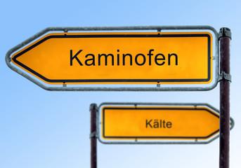 Strassenschild 5 - Kaminofen