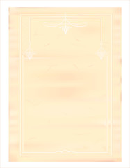 Бланк ретро бумаги с рамкой и узором.
