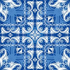 blue vintage seamless