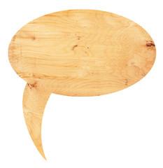 Speech bubbles from wood