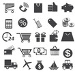 Shopping icons set. Vector