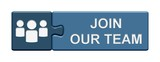 Puzzle-Button blau: Join our team