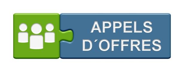 Puzzle-Button grün blau: Appels d´offres