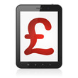 Currency concept: Pound on tablet pc computer