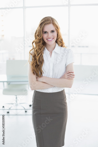Portrait of an elegant businesswoman in office