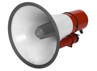 Close-up of a megaphone