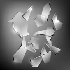 Broken glass eps10