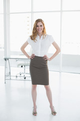 Portrait of an elegant businesswoman in office