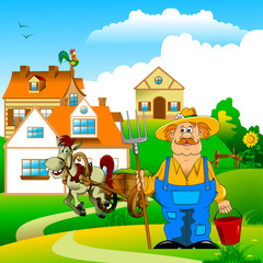 farmer and village