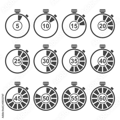Timer Icon Set - 58332767