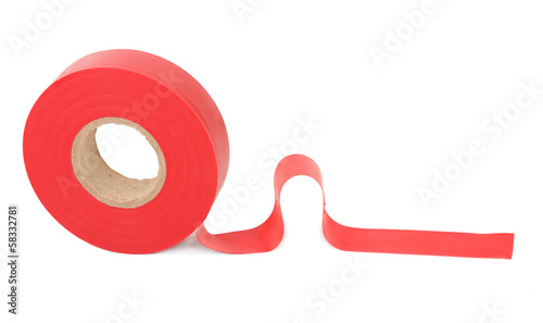 Roll of red insulating tape