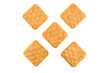 Crackers on an isolated background