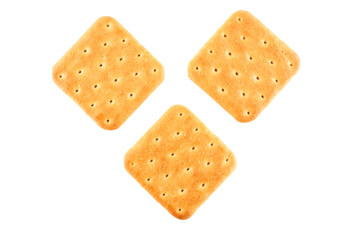 Three crackers top view