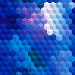 Multicolor cubic mosaic. Seamless background.