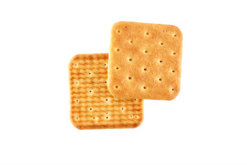 Two crackers top view