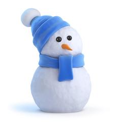 Snowman waits for Christmas