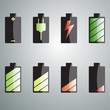 Charging the battery set of colored icons.