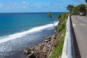 Seychelles, route côtière, côte ouest de Mahé
