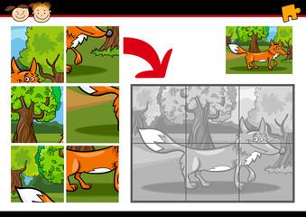 cartoon fox jigsaw puzzle game