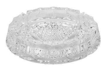Close-up of a crystal ashtray