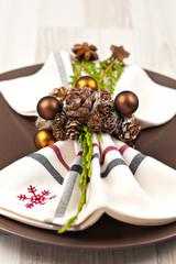 Weihnachtlich gedeckter Tisch im Nordisch-Look
