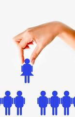 Recruiting woman concept