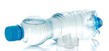 Cleared drinking water in plastic bottle poster