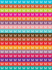 color vector background with butterflies