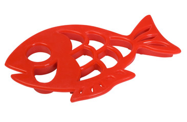 Close-up of a fish shaped clay mold