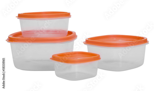 Close-up of plastic containers