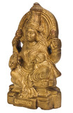 Close-up of a figurine of Goddess Lakshmi
