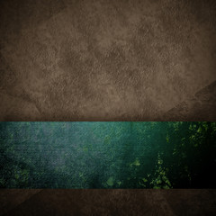 dark brown and green grunge background