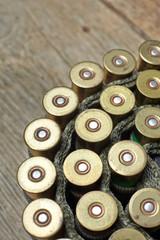 vintage hunting gun with shells