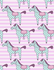 toy horses pattern