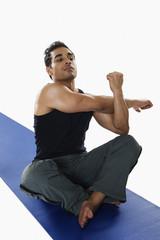 Close-up of a man exercising