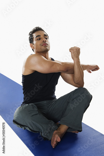 Close-up of a man exercising