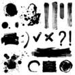 Grayscale signs and blots
