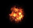 Leinwandbild Motiv bright explosion flash on a black backgrounds. fire burst