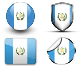 Guatemala flag button sticker and badge