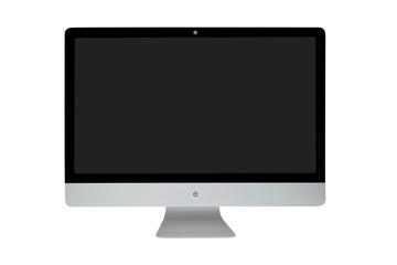 Modern computer. Black screen