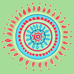 Mandala color pattern in vector