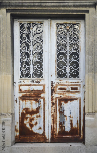 elegant rust metal door
