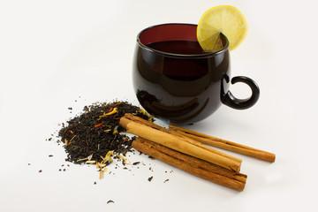 tea with a cinnamon