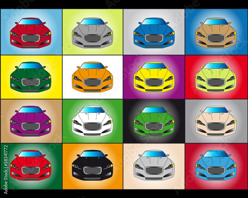 Pop art dream cars