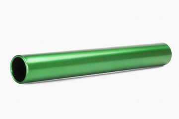 Close-up of a relay baton