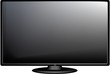 TV flat screen lcd, plasma realistic vector illustration