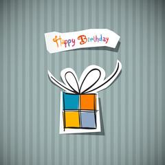 Retro Happy Birthday Card